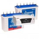 Microtek Sinewave UPS XP SW 2300 + 2nos of 150AH Tall Tubular Batteries Double Combo
