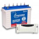 Microtek 1200VA Sinewave Home UPS + 150AH Tall Tubular Battery Combo